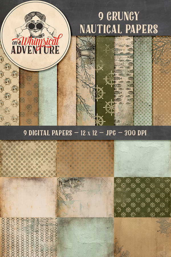 9007OAWAPAGR Nautical Grunge Papers Preview