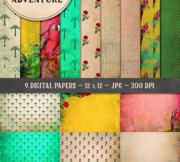 9010OAWAPAVI Vintage Tropical Papers Preview