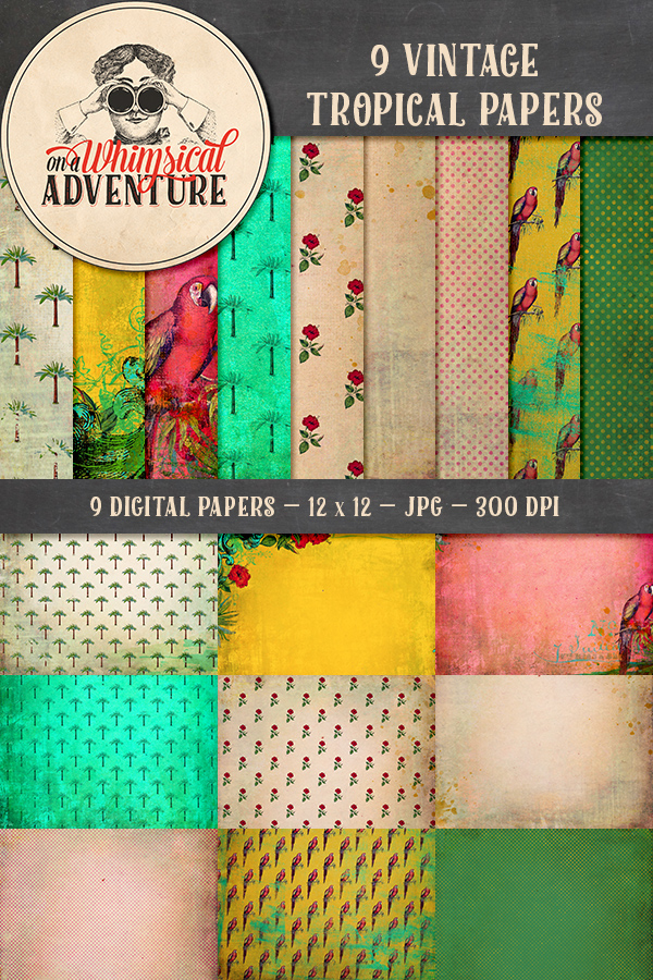 9010OAWAPAVI Vintage Tropical Papers Preview