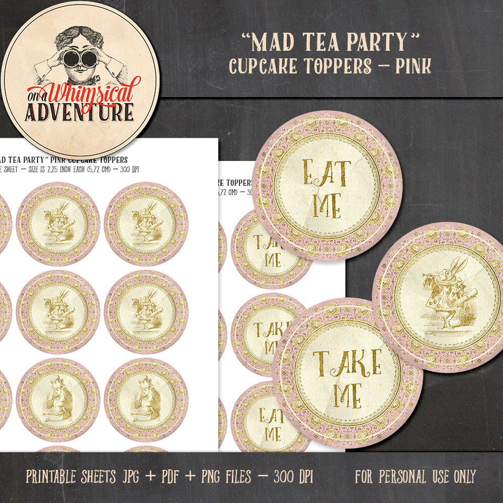 OAWA-MadTeaParty-PinkCupcakeToppers-Preview1