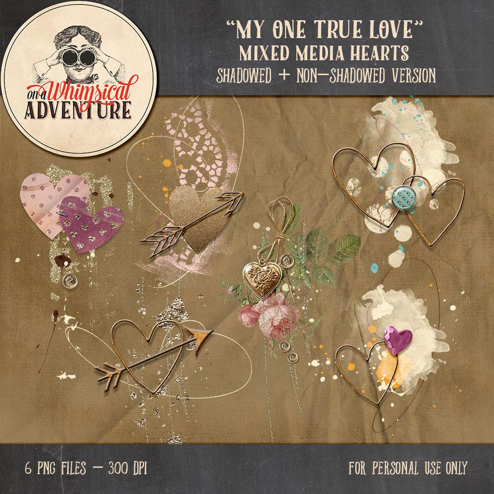 OAWA-MyOneTrueLove-MixedMediaHearts1
