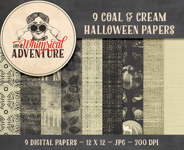 Coal and Cream Halloween Papers