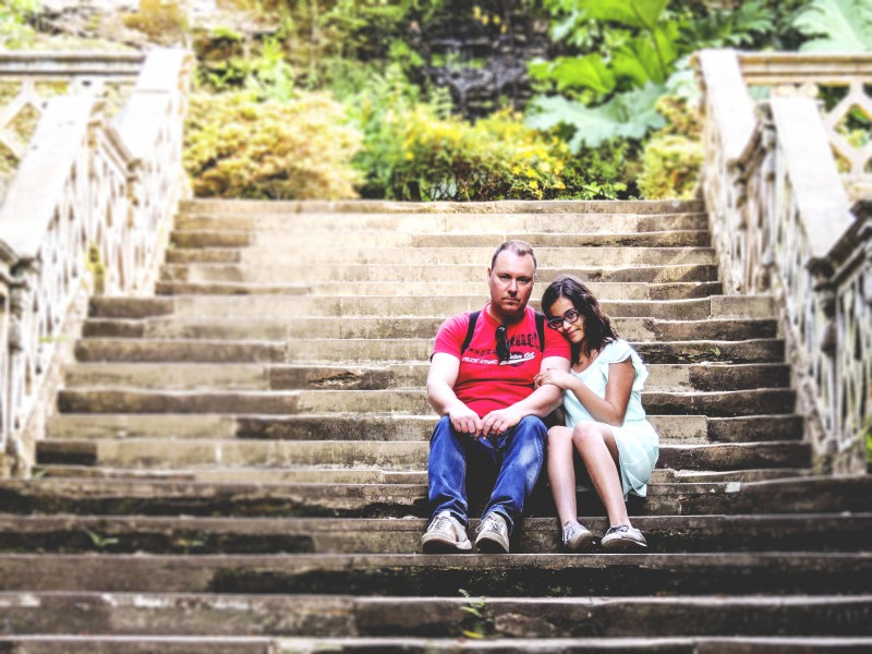 The romantic stairs that give access to the Anna Boleyn walk around the park