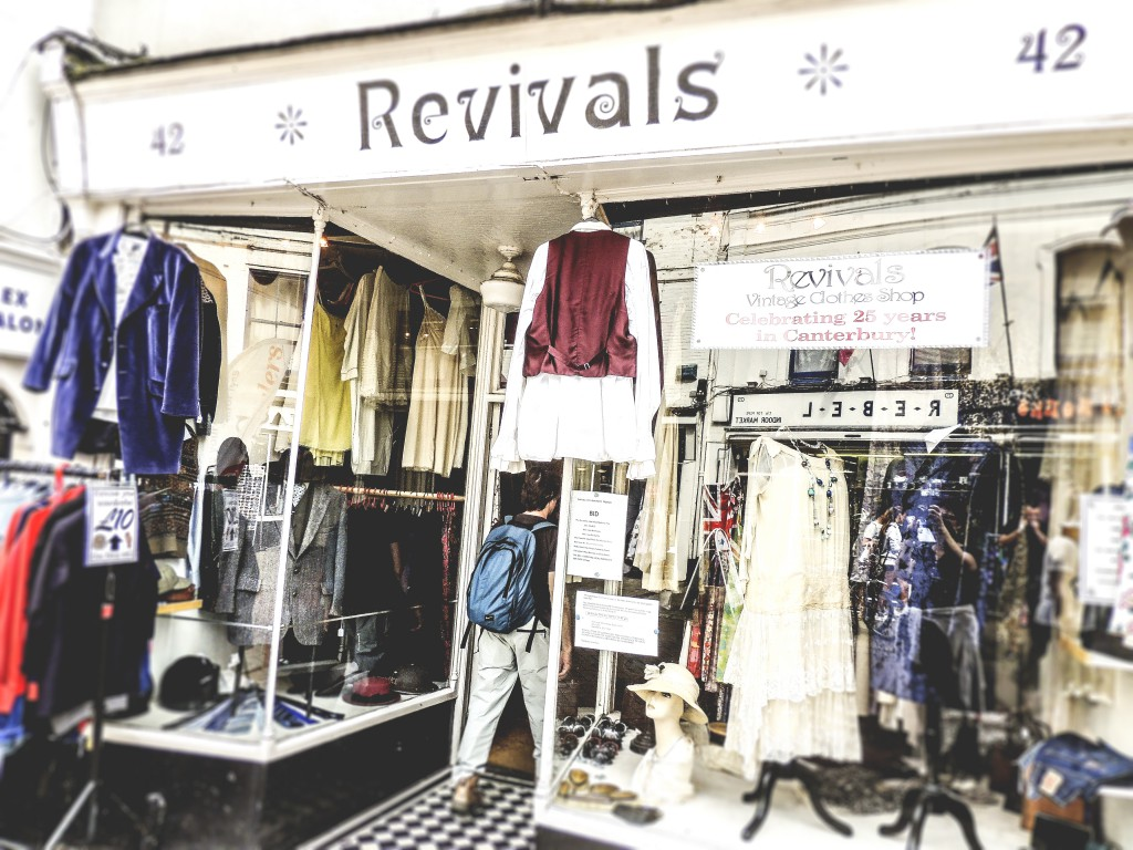A shop packed with vintage clothing, quite impressive!