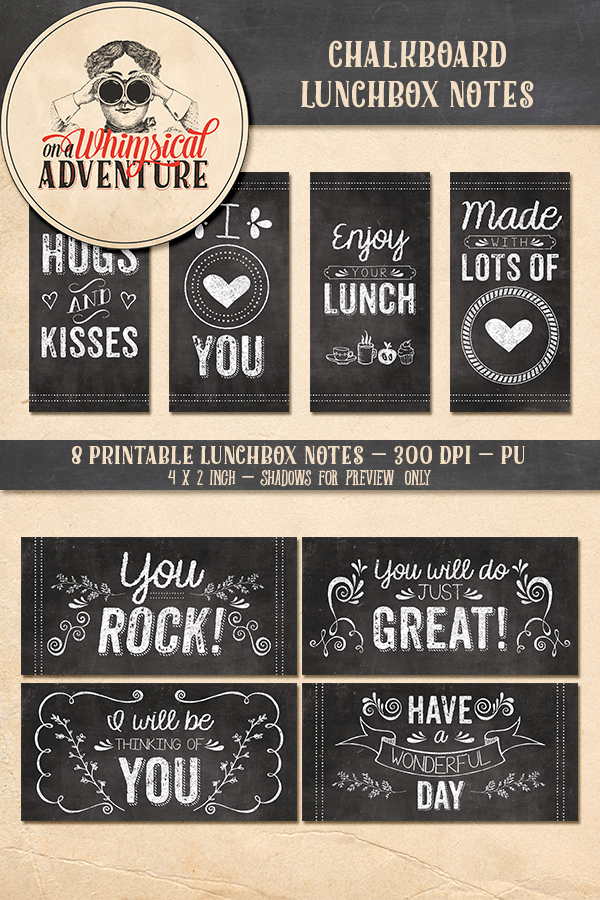 9033OAWALACH Chalkboard Lunchbox Printables Preview