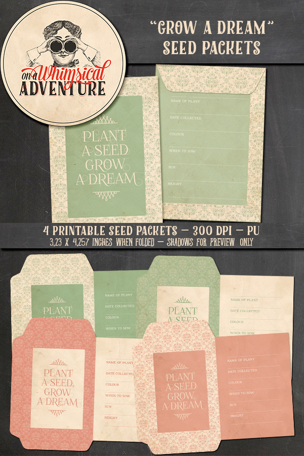 9041OAWA Seed Packets Grow A Dream Preview