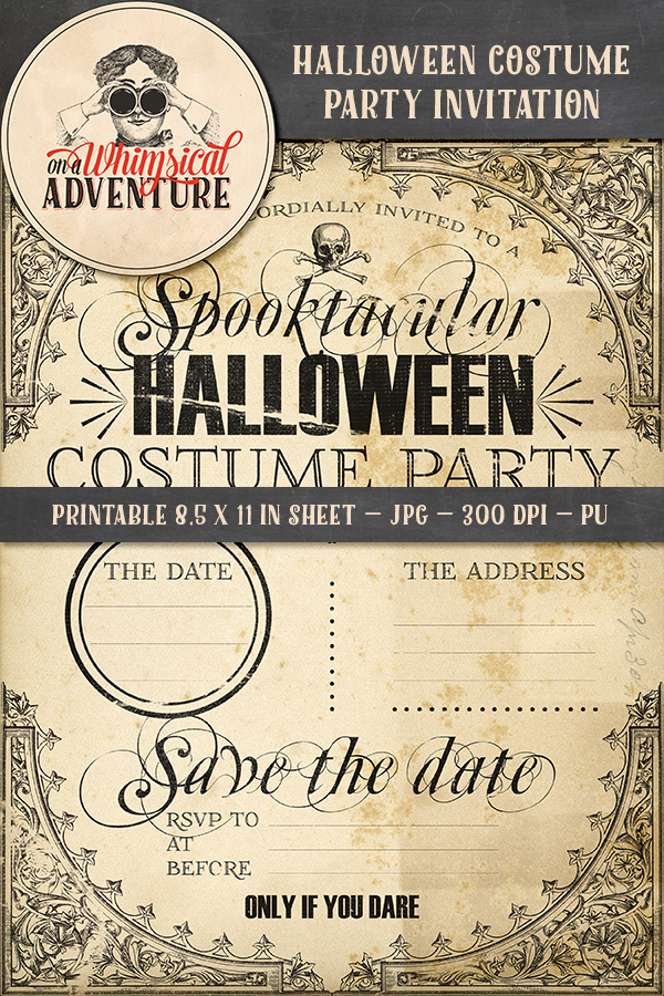 9045OAWAMIHA Halloween Costume Party Invitation Previewtif