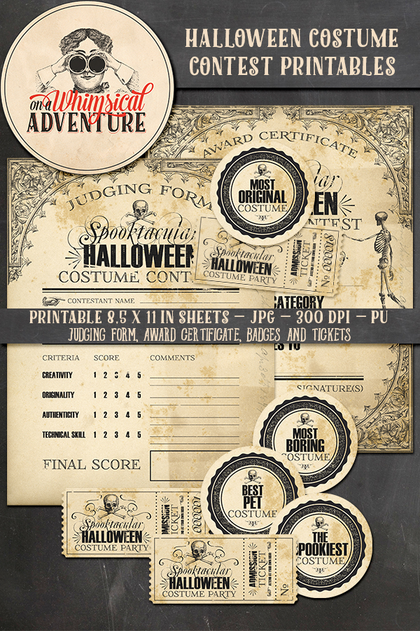 9046OAWAMIHA Halloween Costume Contest Printables Preview1