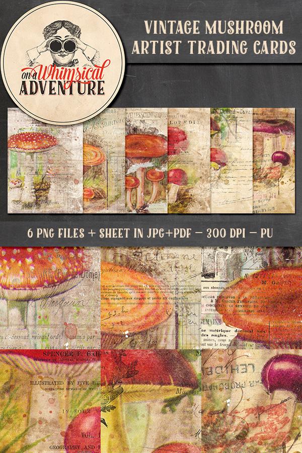 9047OAWAATVI Vintage Mushroom ATC Preview1