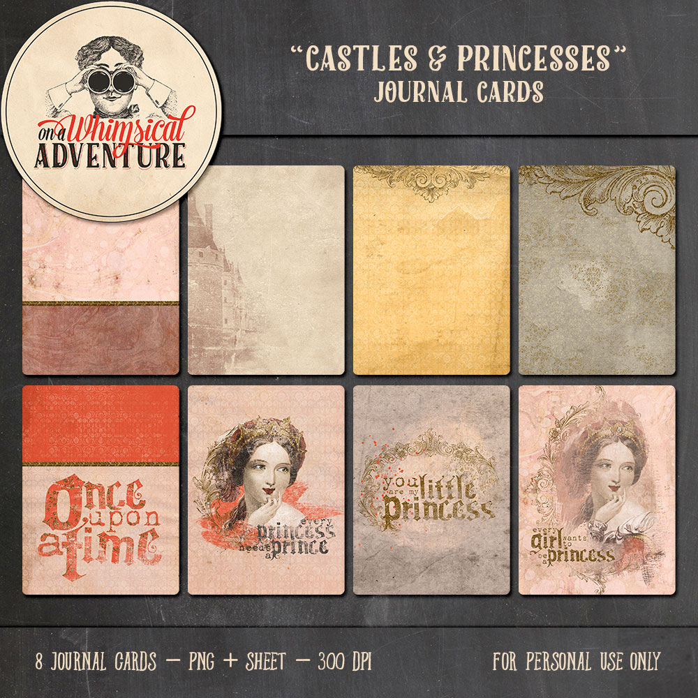 OAWA-CastlesAndPrincessesJournalCards-Preview1