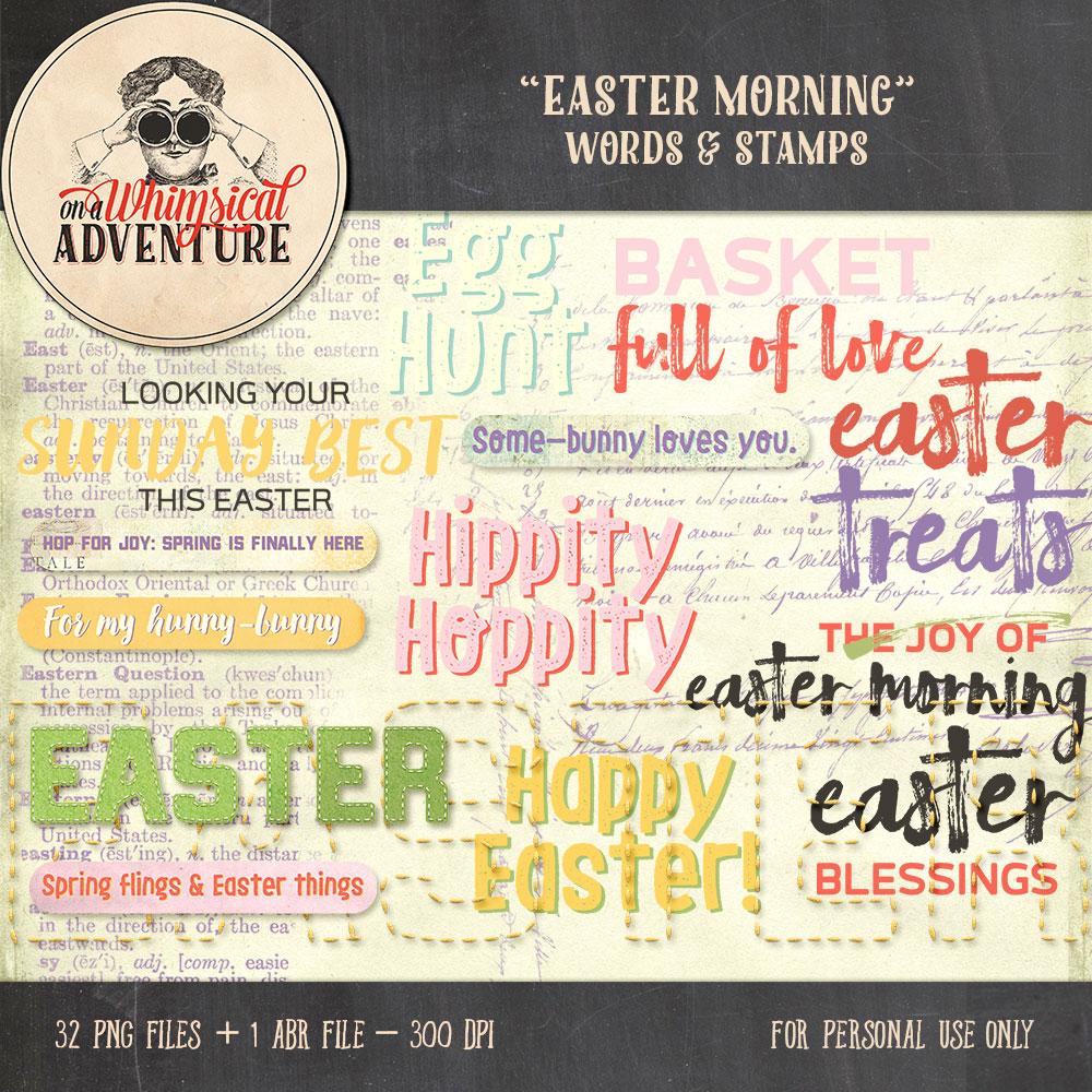 OAWA-EasterMorningWordsAndStamps